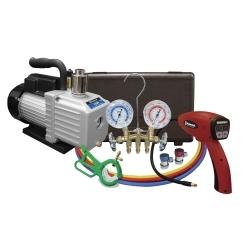 Mastercool 90062-A-KIT A/C KIT with 3cfm pump, leak detector, gauge