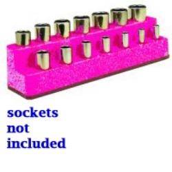 Mechanics Time Saver 1482 SOC HOL 3/8 IMP M PINK HOT 14 HOLE image