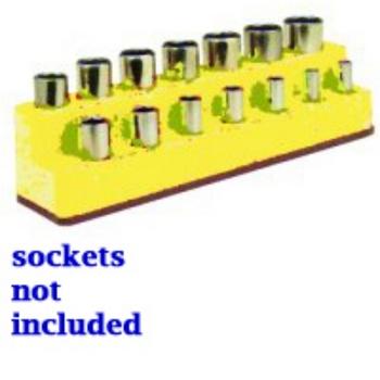 Mechanics Time Saver 1483 SOC HOL 3/8 IMP M YELLOW NEON 14 HOL image