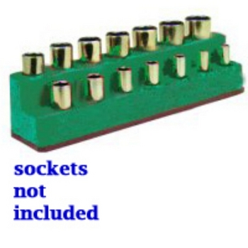 Mechanics Time Saver 1486 SOC HOL 3/8 IMP M DK GREEN 14 HOLE image