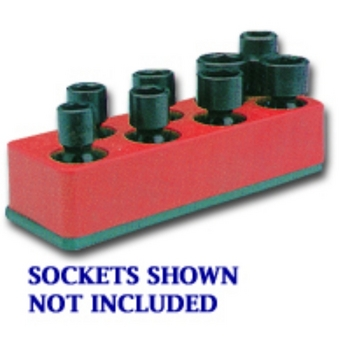 Mechanics Time Saver 887 SOC HOL 3/8U IMP ROCKET RED 8 HOLE image