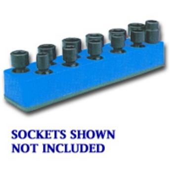 Mechanics Time Saver 980 SOC HOL 3/8U IMP BLUE NEON MAG BASE image