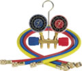 Image Robinair ROB40153 Two-Way Wheel Manifold Gauge Set with Hoses