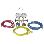 Image Robinair 48134A R134 Brass Manifold and Hose Set