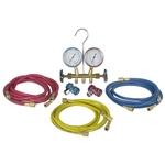 Image Robinair 48134B R12 & R134A Brass Manifold Set