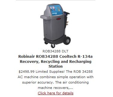 Robinair AC Machine on Sale at DenLors Tools