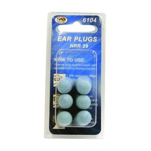 SAS Safety 6104 FOAM EAR PLUGS (3 PAIR PER PKG) image