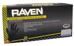Image SAS Safety Corp SAS66517 Raven PF Black Nitrile Gloves - 100 Pk, Medium
