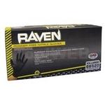 Image SAS Safety Corp SAS66518 Raven PF Black Nitrile Gloves - 100 Pk, Large