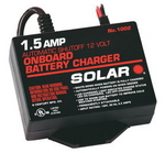 Image Solar Brand SOL1002   1.5 Amp 12V Automatic On-Board Battery Charger