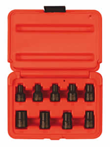 Sunex SUN3670SE 9 Pc. External Torx Socket Set - E5 thru E16 image