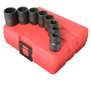 Sunex 3651 SOCKET SET IMPACT 3/8IN. DRIVE 8 PC METRIC 6 POINT image