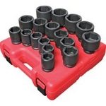 "Image Sunex 3/4"" Dr. Heavy Duty SAE Impact Socket Set, 17PC"