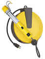 Image Bayco Lighting BAYSL825 Rough Duty Fluorescent Work Light on 40Ft. Metal Reel