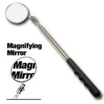"""Ullman HTC-2LM Extra Long 2-1/4"""" Diameter Magnifying Inspection Mirror image"""