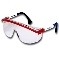 Uvex S1169 Astrospec 3000® Patriots RWB Safety Glasses with Clear Lens image