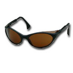 Image Uvex S1601 Bandit™ Black Frame Safety Glasses with Amber Lens