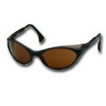 Image Uvex S1603 Bandit™ Black Frame Safety Glasses with Espresso Lens