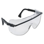 Image Uvex S2500 Safety Glasses Black Frames/Clear Lens