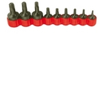 Image Vim Tools VTD409 9 Piece Tamper Proof Torx Driver Bit Set