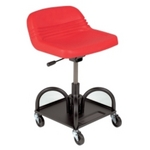 Image Whiteside Mfg HRAS Adjustable Height Mechanic's Seat - Red
