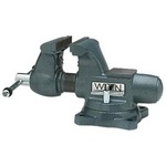 Image Wilton 63199 4-1/2in Round Channel Bench Vise with Swivel Base