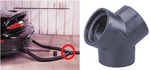Image Crushproof Tubing RY25 Rubber Y Connector 2 - 1/2