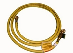 Image CPS Products HA6Y 6' Yellow Charge Hose 1/2