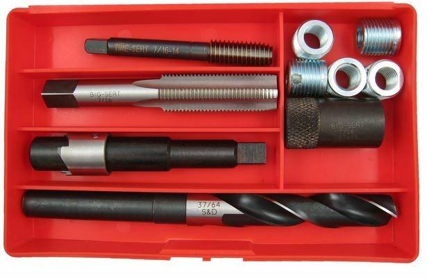 Image TIME-SERT 5761E 7/16-14 Big Sert Chevy Big Block Head Bolt Thread Repair Kit