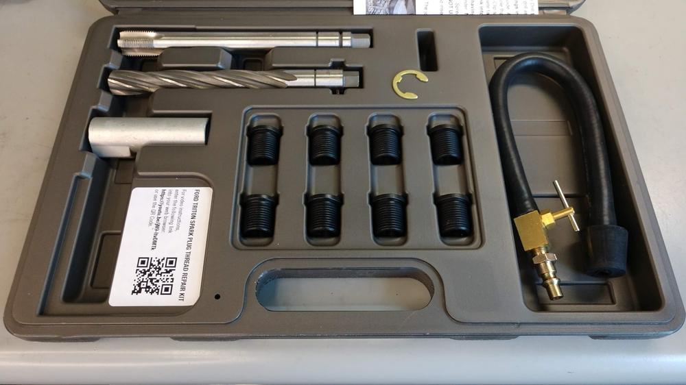 CalVan Tools 38900 Ford Spark Plug Thread Repair Kit 8-Inserts image