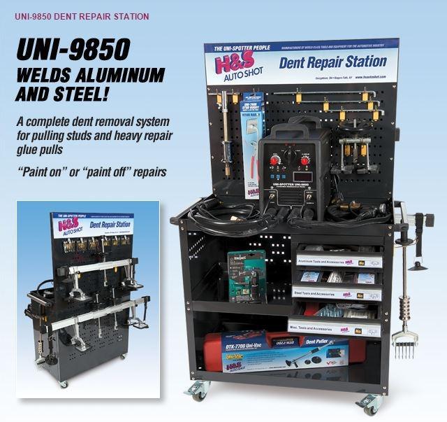 H&S Autoshot 9850 Dent Repair Station - Aluminum/Steel image