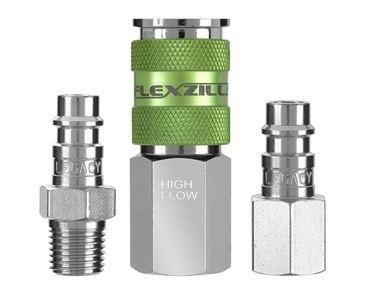 Image Legacy Manufacturing A53452FZ Flexzilla High Flow Coupler & Plug Kit, 3 pc
