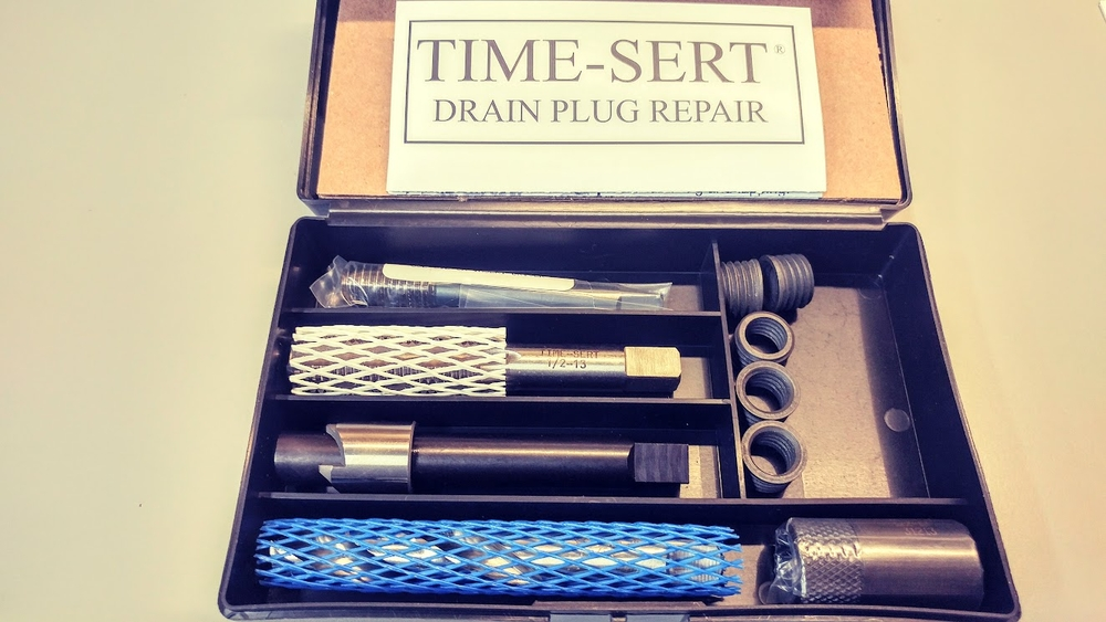 Image TIME-SERT 0121C Oil Drain Plug Thread Repair for Aluminum
