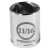 "Image Mountain MTN10511/16 3/8"" Drive 11/16"" 6 Point Socket"
