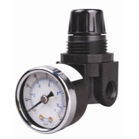 "Image Arrow Pneumatic PR162G-S75 1/4"" Mini Regulator with Gauge"