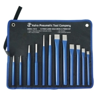 Image Astro Pneumatic 1612 12-Piece Large Cold Chisel & Punch Set
