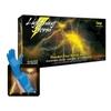 """Image  LS-L Lightning Storm Large 12"""" PF Blue Nitrile Gloves"""