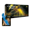 "Image  LS-M Lightning Storm Medium 12"" PF Blue Nitrile Gloves"