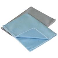 Image Carrand 40064 2 pk Glass Microfiber Towel 12 x 16 (80/20 Blend)
