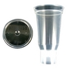 Image ITW Devilbiss DPC-503-K24 3 Oz. Disposable Cup & Lid (Qty 24)