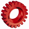 Image Dynabrade 92255 Red-Tred Eraser Wheel 4 x 1-1/4