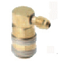 "Image FJC, Inc. 6010 R134a 90 Degree Quick Coupler 1/4"" - LS"