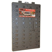 JSP Manufacturing 16 Tool Standard Wrench Holder Rack Organizer Blue Made in USA