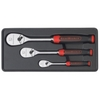 Image KD Tools 81207F 3 Pc. Ratchet Set w/Cushion Grip Handles