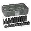 "Image KD Tools 84901 28 Pc. 1/4"" Drive Impact Socket Set Metric"