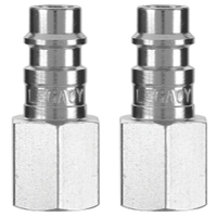 Image Legacy Manufacturing A53430FZ-2PK Flexzilla High Flow Plug, 1/4 Body, 1/4 FNPT