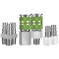 Image Legacy Manufacturing A53457FZ Flexzilla High Flow Coupler & Plug Kit, 7 pc