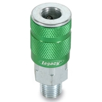 "Image Legacy Manufacturing A71420B B 1/4"" Green Coupler 1/4"" MNPT"