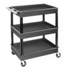 "Image Luxor TC111 CART SERV PLAS 3TUB BLACK 24""D X 32""W"