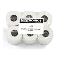 "Image Midtronics A095 2 1/4"" THERMAL PAPER / 6PK"